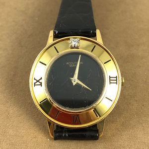 Vintage Swiss ACCUTRON with Diamond Roman Numerals